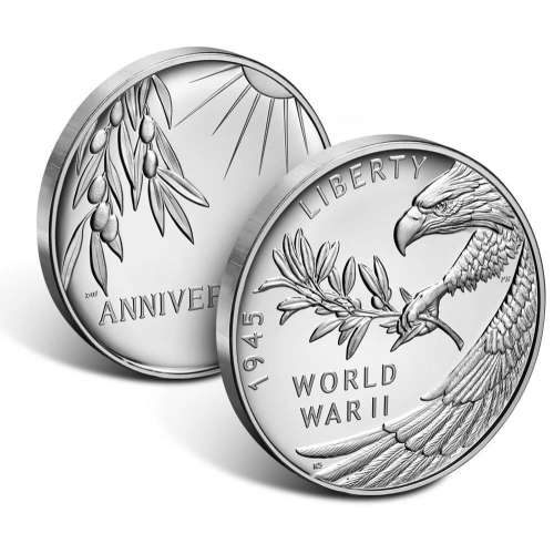 2020 75th Anniversary Of WWII US Silver Medal