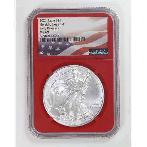 2021 Heraldic Eagle T-1 Early Releases  NGC MS-69