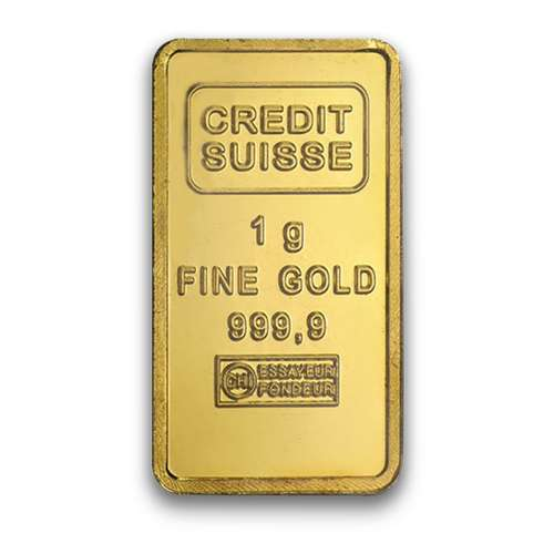1g Credit Suisse Gold Bullion Bar