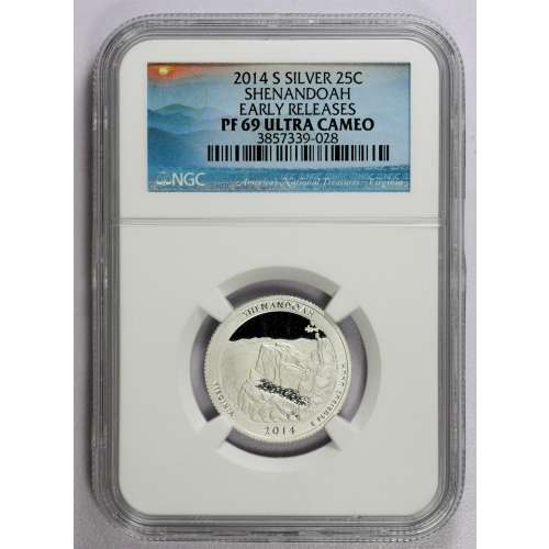2014-S SHENANDOAH EARLY RELEASES ULTRA CAMEO NGC PF-69