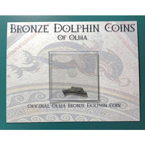 Olbia, Thrace Bronze Dolphins With Card