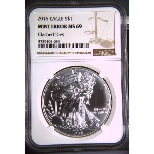 2016 Mint Error Clashed Dies  NGC MS-69