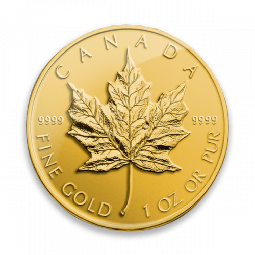 Any Year  - 1oz Canadian Gold Maple Leaf- 9999