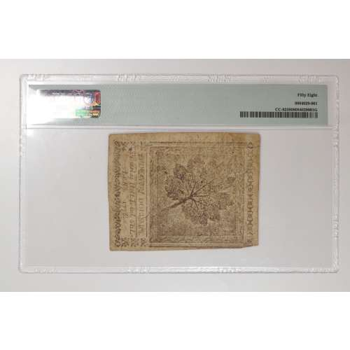 1778-Continenntal Currency   NGC AU-58