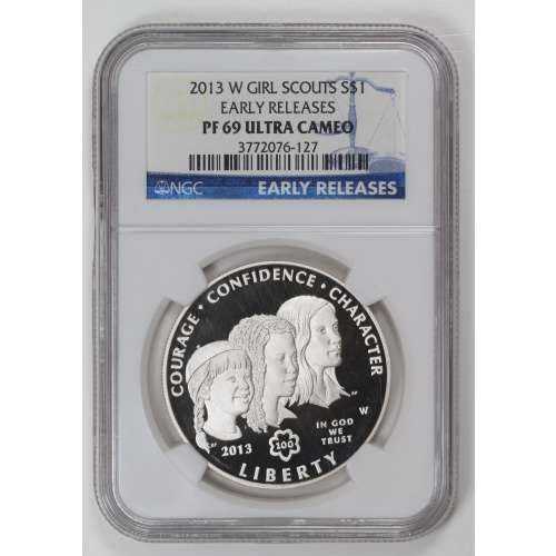 2013 GIRL SCOUTS CENTENNIAL EARLY RELEASES ULTRA CAMEO NGC PF-69