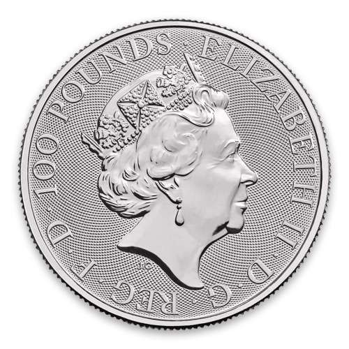 2021 Britain 1 oz Platinum Queen's Beasts The Lion of Mortimer