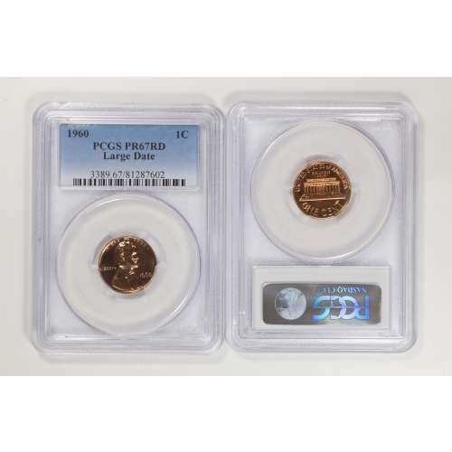 1960 Lincoln Cent PCGS PF67RD