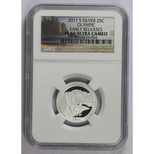 2011-S OLYMPIC EARLY RELEASES ULTRA CAMEO NGC PF-69