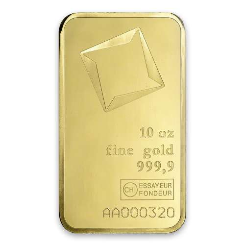 10oz Valcambi Gold Bar - minted
