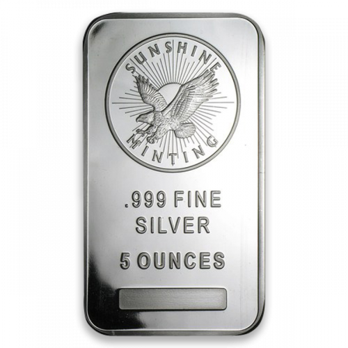 5oz Generic Silver Bar
