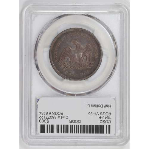 1840 Reverse of 1839, Small Letters  PCGS VF-35