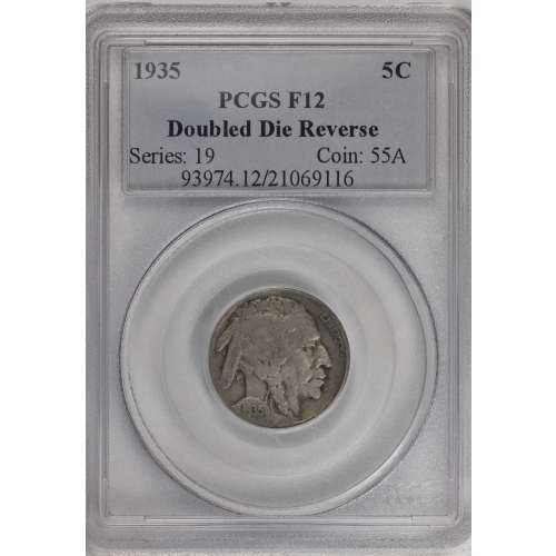 1935 Doubled Die Reverse  PCGS F-12