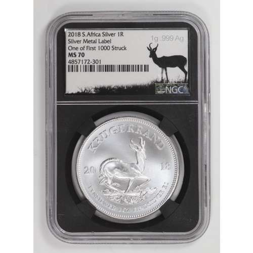 2018 Silver Metal Label One of First 1000 Struck  NGC MS-70