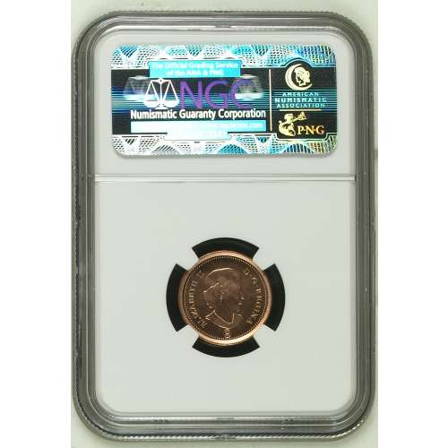 2012 COPPER PLATED ZINC RD NGC MS-66