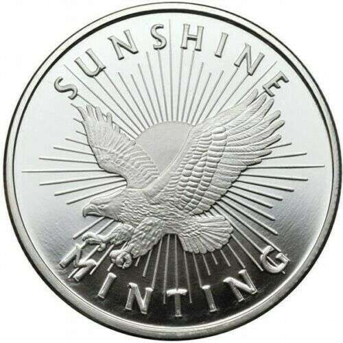 1/2oz Sunshine Mint Silver Round