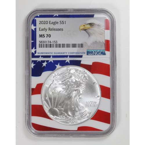 2020 Early Releases Flag Holder NGC MS-70
