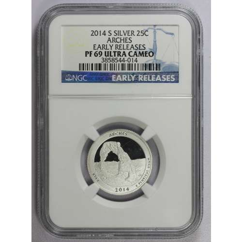 2014-S ARCHES EARLY RELEASES ULTRA CAMEO NGC PF-69