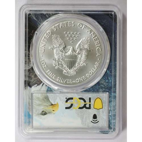 2021-(S) Silver Eagle - Type 1  Eagle Mountain Picture Frame  PCGS MS-70