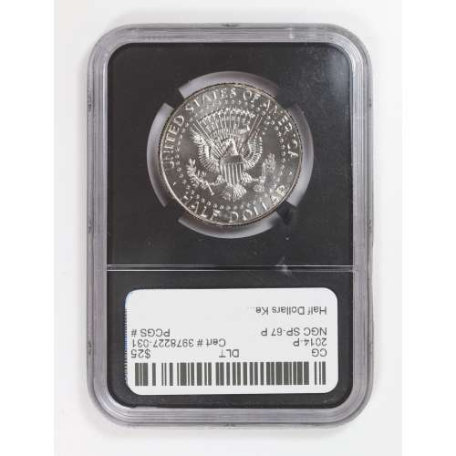 2014 HIGH RELIEF KENNEDY 50th ANNIVERSARY P NGC SP-67