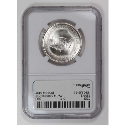 1951-S WASHINGTON-CARVER  NGC MS-65
