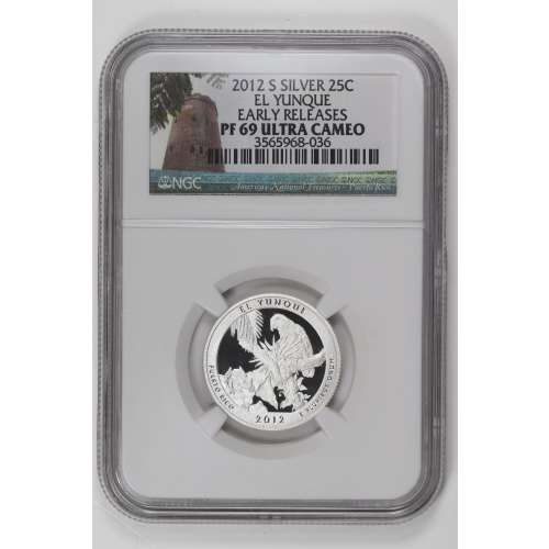 2012-S EL YUNQUE EARLY RELEASES ULTRA CAMEO NGC PF-69