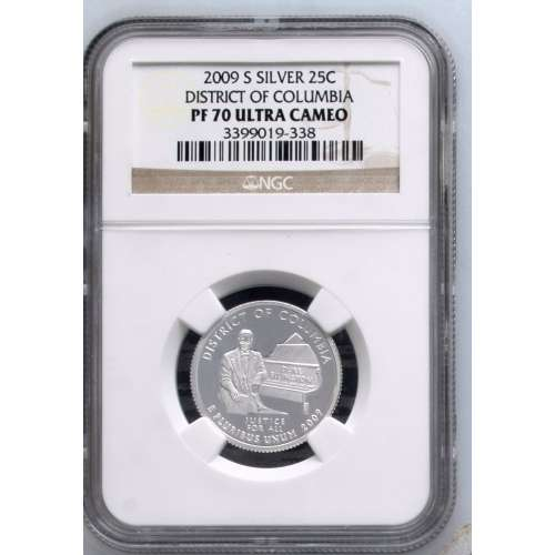 2009-S DISTRICT OF COLUMBIA ULTRA CAMEO NGC PF-70