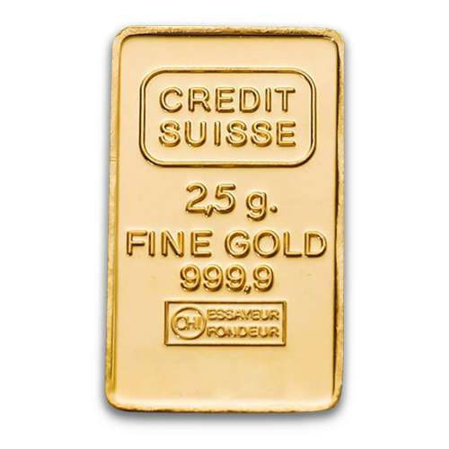 2.5g Credit Suisse Gold Bar