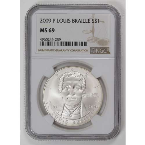2009 LOUIS BRAILLE  NGC MS-69