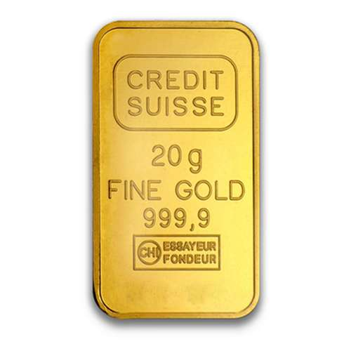 20g Credit Suisse Gold Bullion Bar