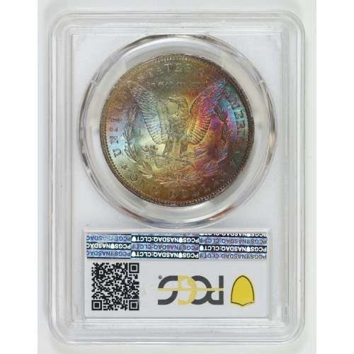 1885-O Rainbow Toned  PCGS MS-63