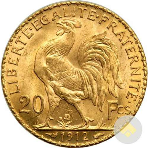 Any Year Gold French 20 Franc