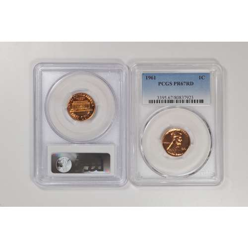 1961 Lincoln Cent PCGS PF67RD