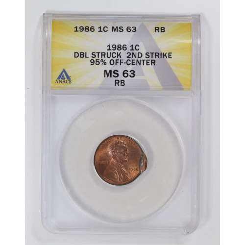 1986 RB Double Struck  ANACS MS-63