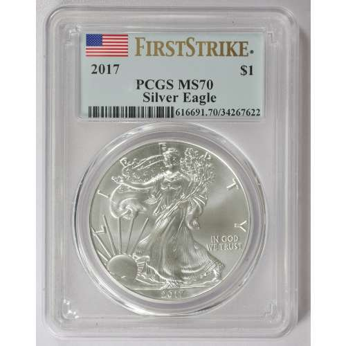 2017 Silver Eagle  First Strike  PCGS MS-70