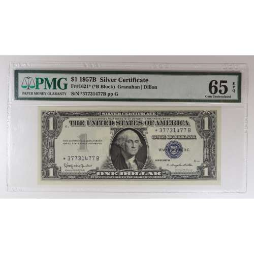 1957 $1 Silver Certificate  NGC MS-65