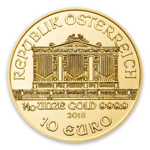 Any Year - 1/10oz Austrian Gold Philharmonic