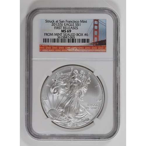 2012 FIRST RELEASES Struck at San Francisco M (S) NGC MS-69