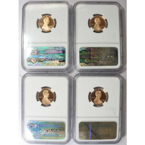 2009 Lincoln Cent 4 Coin Set NGC PF69 Ultra Cameo