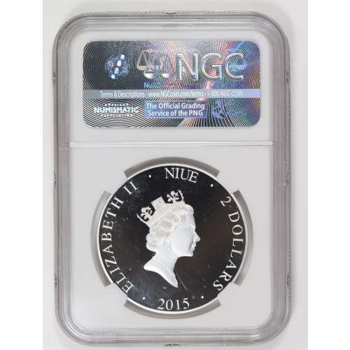 2015-Niue LINCOLN MEMORIAL EARLY RELEASES ULTRA CAMEO NGC PF-70