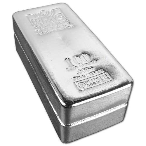 100oz Generic Silver Bar